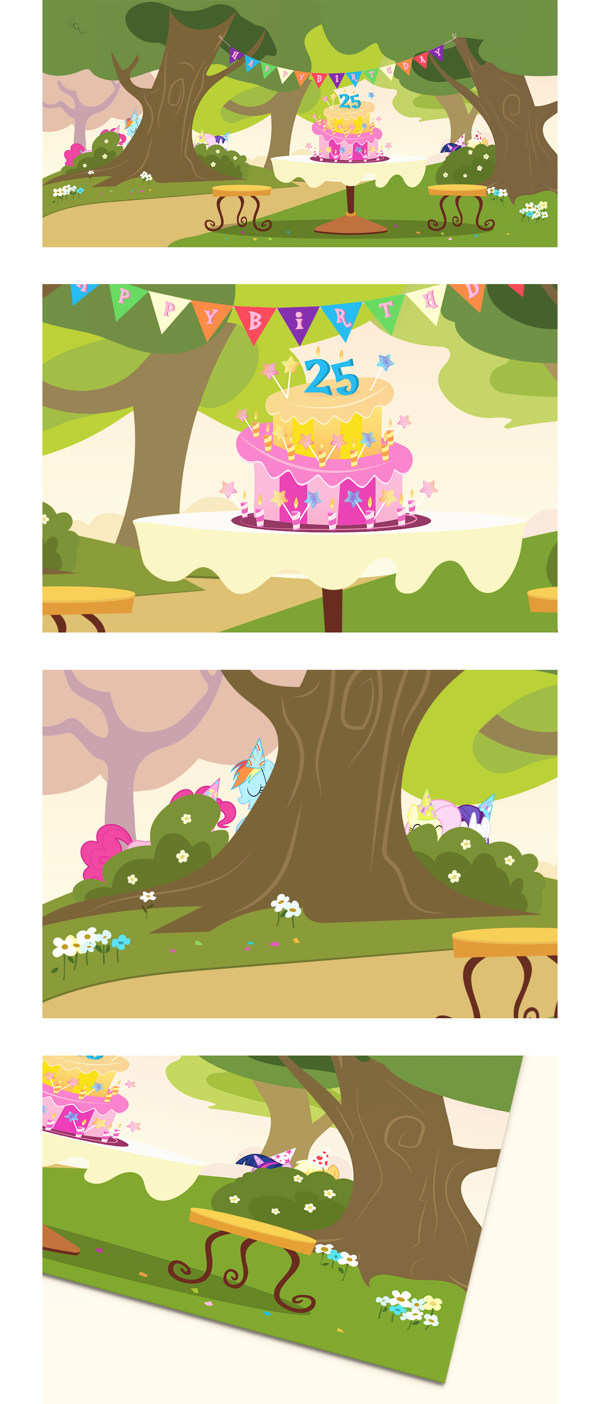 Birthday Card My Little Pony › Illustration & Graphic Design